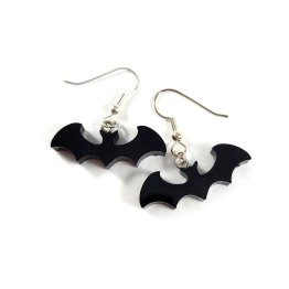 Black Freetail Bat Babies in Flight Earrings