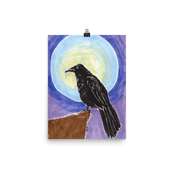The Raven poster by Wilde Designs