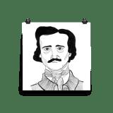 Edgar Allan Poe Poster by Wilde Designs