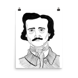 Edgar Allan Poe Poster by Wilde Designs