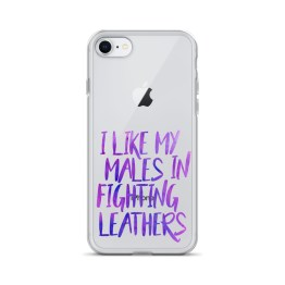 I Like My Males in Fighting Leathers iPhone Case