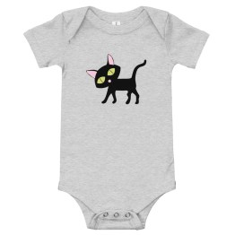 Lucky Cat One Piece Baby Bodysuit