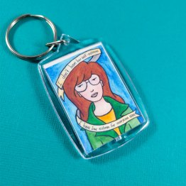 Daria Double Sided Keychain by Wilde Designs