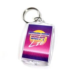 Friends Don't Lie Double Sided Keychain by Wilde Designs