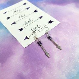 Purple Archer Arrow Earrings