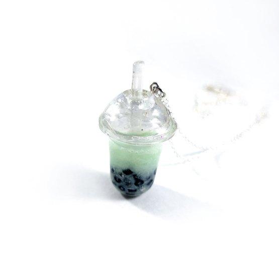 Matcha Boba Tea Necklace