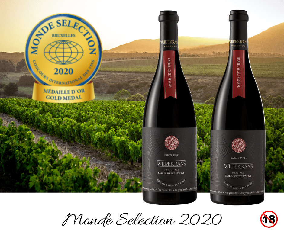 Gold Medals at Monde Selection Wine, Brussels