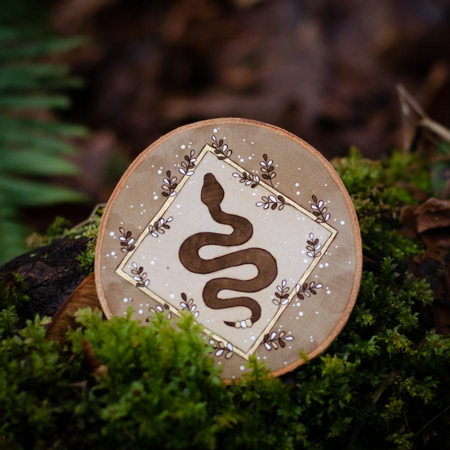 Snake - Wooden Ornament