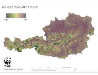 Wilderness Quality Index Austria 2012