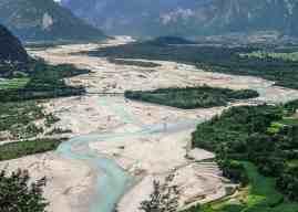 Wild River Tagliamento in Northern Italy