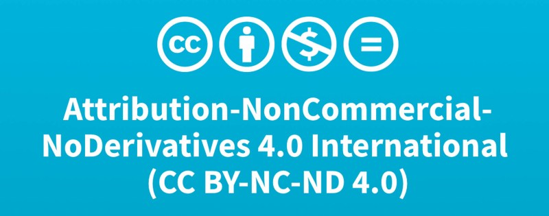 Attribution-NonCommercial-NoDerivatives 4.0 International (CC BY-NC-ND 4.0)