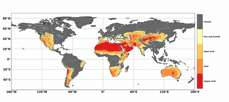 Geographical distribution of drylands