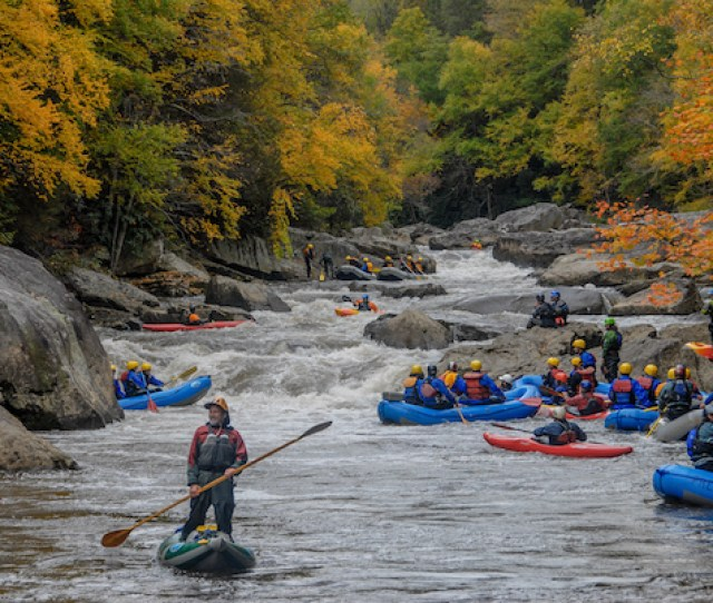 Upper Yough Fall Rafting Kayaks