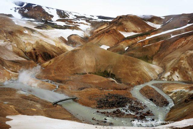 View into Hveradalir valley, Kerlingarfjöll mountains, Iceland