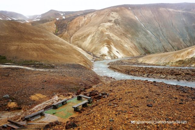 Picnic place, Hveradalir valley, Kerlingarfjöll mountains, Iceland