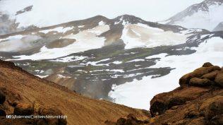 Surreal snowfields, Hveradalir geothermal valley, Kerlingarfjöll, Kjölur road, Iceland