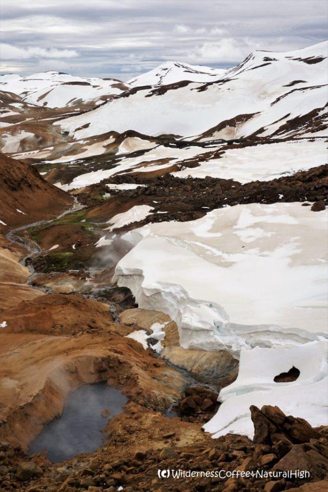Surreal valley view, Hveradalir hot spring valley, Kerlingarfjöll, Iceland
