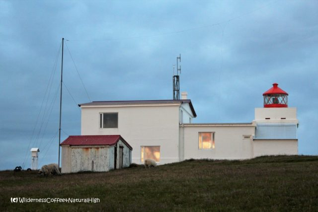 Storhofdi lighthouse and weather station, Heimaey, Vestmannaeyjar, Iceland