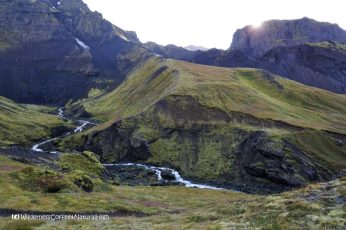 Hvannárgil canyon, hiking trail, Þórsmörk, Iceland
