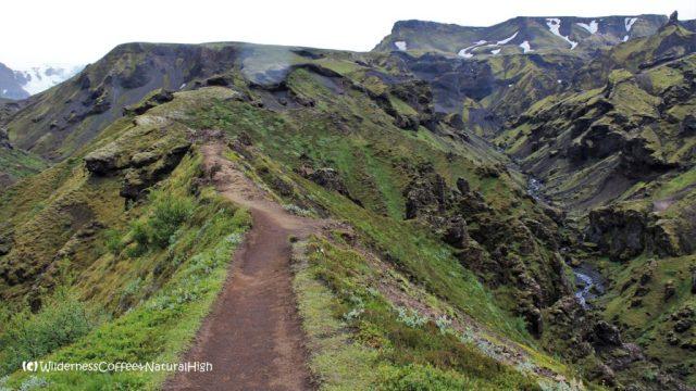 Kattarhryggir ridge, Fimmvörðuháls walking route, Þórsmörk, Iceland