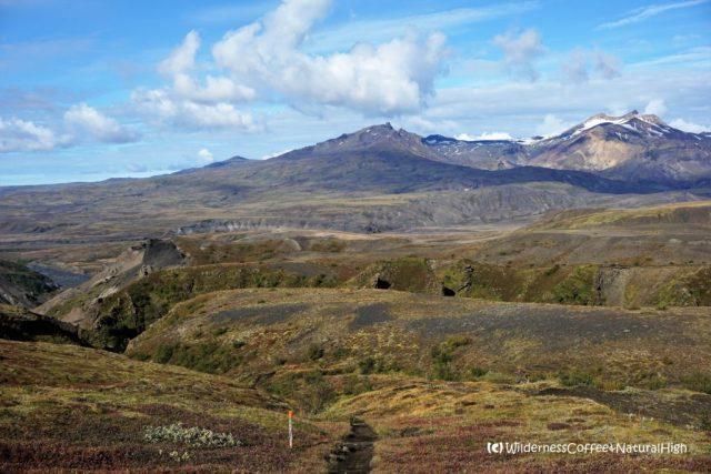Path towards the hidden valley, Rjúpnafell hiking trail, Þórsmörk, Iceland