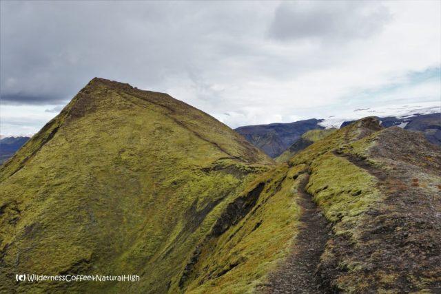 Ridge to the top of Rjúpnafell, Þórsmörk, Iceland
