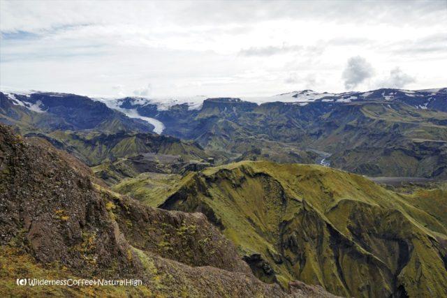 The rock below the first peak, Rjúpnafell hiking trail, Þórsmörk, Iceland