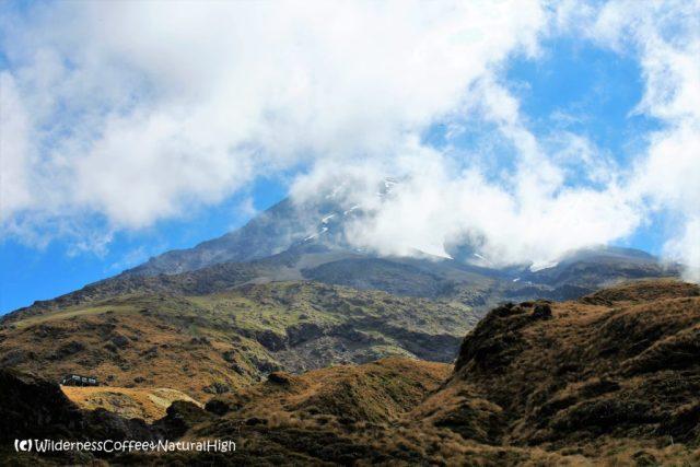 The top of Mount Taranaki, North Island, New Zealand