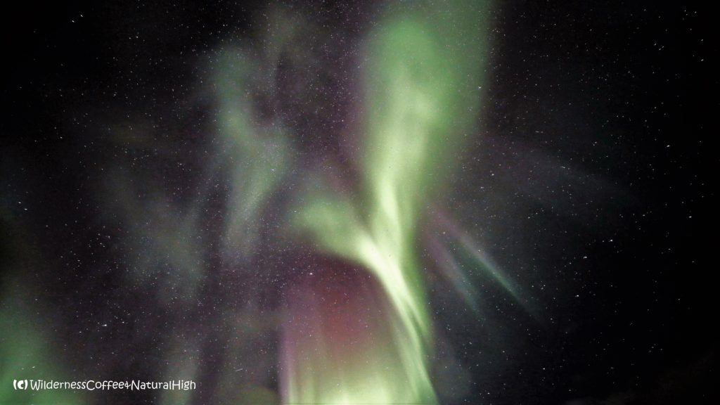 Heart-shaped northern lights, Stykkishólmur, Snaefellsnes, Iceland