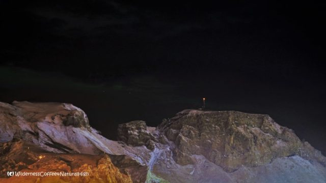 Beacon light and candle on Klif, Heimaey, Vestmannaeyjar, Iceland