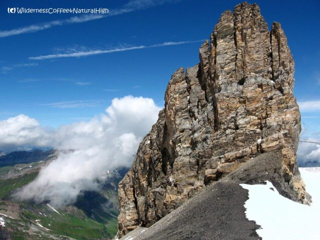 Towering rocks, Mount Titlis, Engelberg, Switzerland