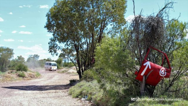 Red cardoor route, Lightning Ridge, New South Wales, Australia