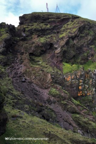 Klif hike, ropes and chains, Heimaey, Vestmannaeyjar, Iceland