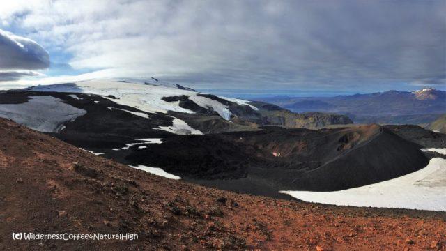 Eyjafjallajökull craters, Fimmvörðuháls walking route, Thórsmörk hiking trail, Þórsmörk, Iceland