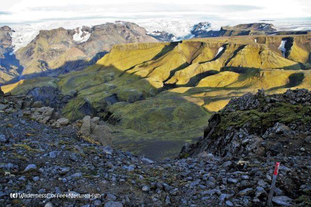 View from Útigönguhöfði mountain, Thórsmörk hiking trail, Þórsmörk, Iceland