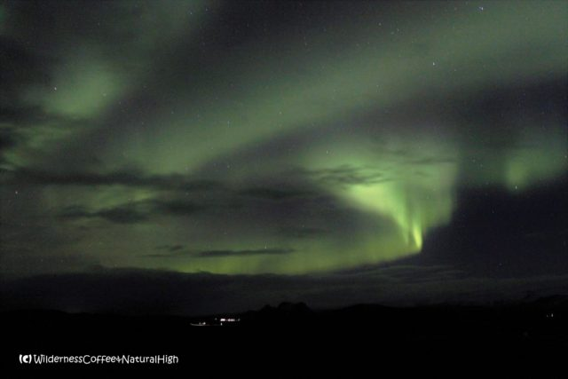 Northern lights near Vík, Southcoast, Iceland