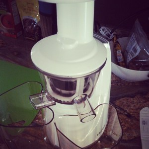 ready to juice with the Hurom Slow Juicer
