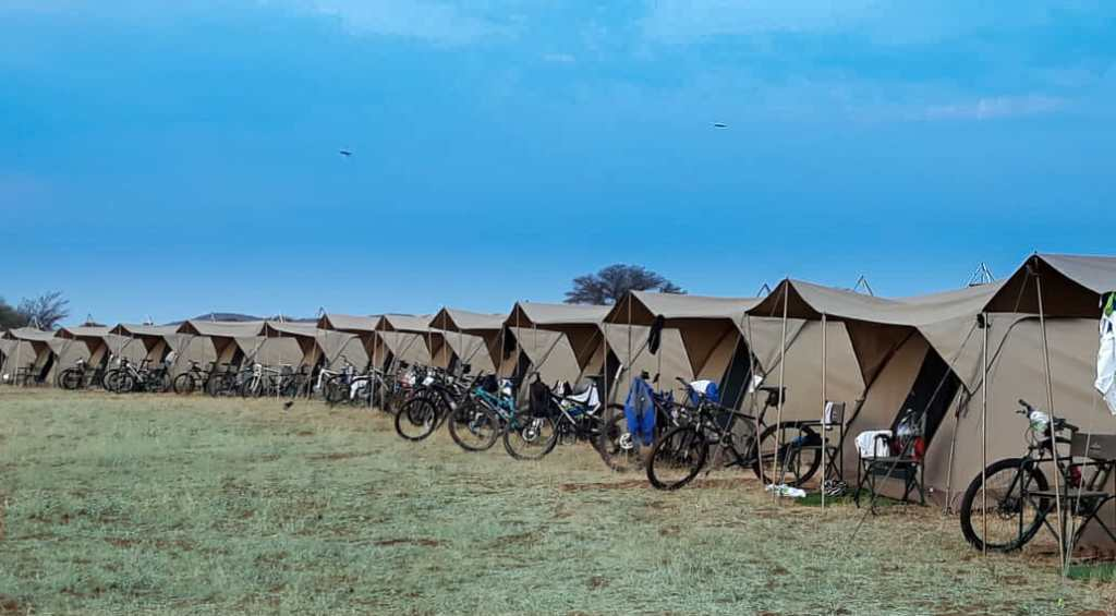 group mobile accommodation camp