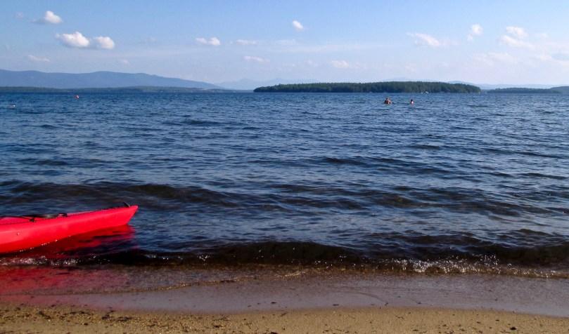 Kayaking Lake Winnipesaukee