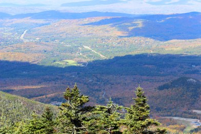 View from franconia notch state park top