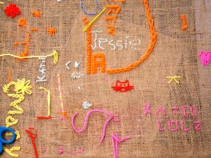 Stickautogramm / Stitched autograph