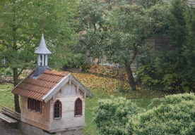 Modell einer naheliegenden Kapelle
