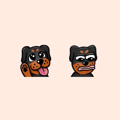 RCW05 Rottweiler Dog Twitch Affiliate Emotes