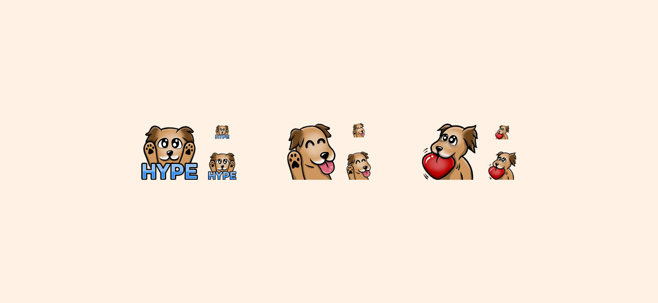 KillaFuze Twitch Dog Emotes