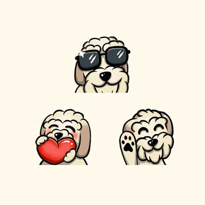 Vapors Dog Twitch Affiliate Emotes
