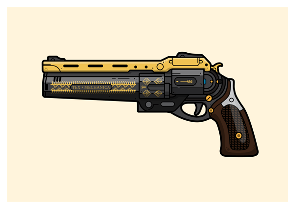 The Last Word hand cannon gaming poster, gamers gift