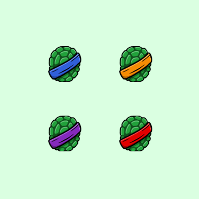 Kracky's Ninja Turtle Twitch Subscriber Badges