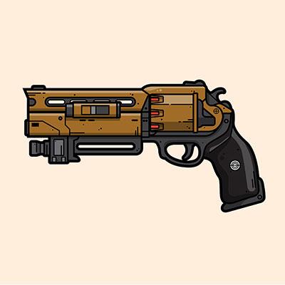 Destiny Fatebringer hand cannon illustration designed by WildeThang