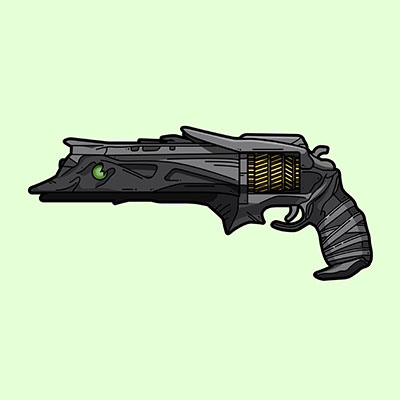 Destiny 2 Thorn exotic hand cannon illustration designed by WildeThang