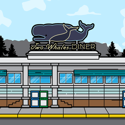 Life is Strange Two Whales Diner illustration by WildeThang